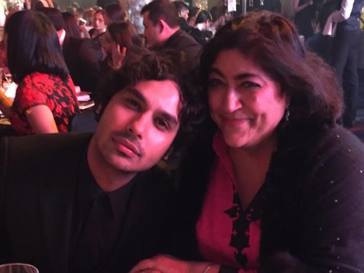 Gurinder with actor Kunal Nayyar