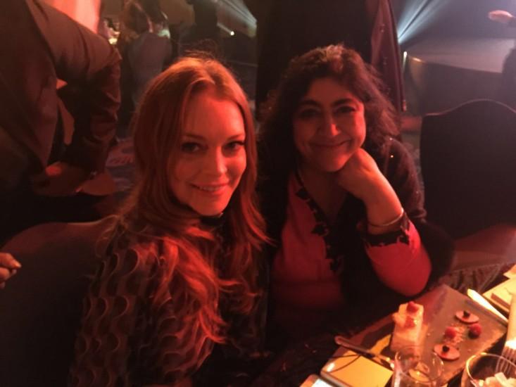 Gurinder with actress Lindsay Lohan